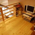 ロフト:ご主人さまの書斎として、子供たちの遊び場として、なんだかワクワクする空間です。