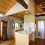 キッチン:お料理教室の時にぐるりっと囲めるカウンターはいつも大活躍。